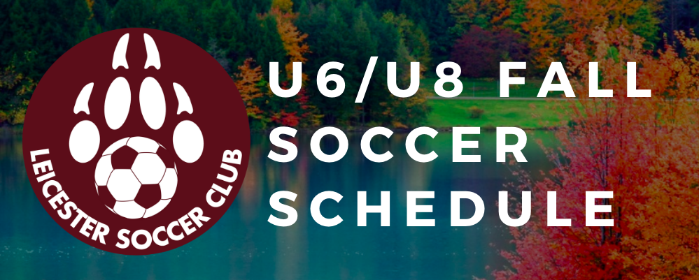 U6/U8 Fall 2019 Schedules